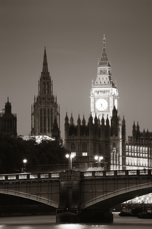 palace of westminster: Westminster Palace and bridge over Thames River in London