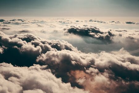 cloudscape: Cloudscape viewed from air in day