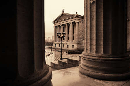 attractions: Philadelphia Art Museum as the famous city attractions. Editorial