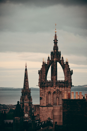 giles: Edinburgh St Giles Cathedral and rooftop view. United Kingdom. Stock Photo