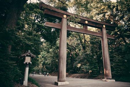 portal: Portal of Meiji Jingu Shrine. Tokyo, Japan. Editorial