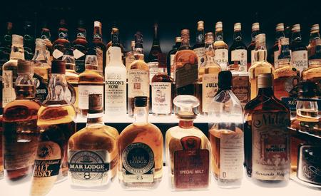 Scottish Whisky collection in Edinburgh.