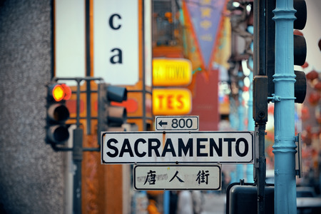settled: San Francisco, CA - MAY 11: Chinatown Street view on May 11, 2014 in San Francisco. It is the most densely settled large city in California and the second-most in US. Editorial
