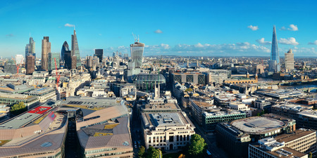 london landmark: London city rooftop view panorama with urban architectures.