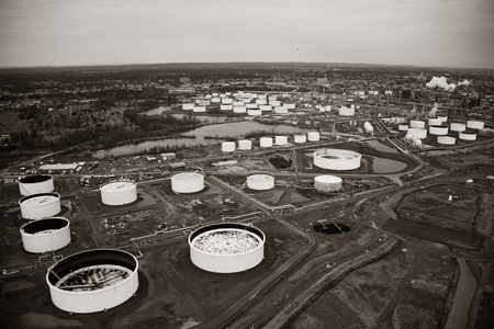 new jersey: Oil tank in New Jersey aerial view