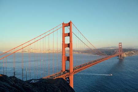 golden gate: Golden Gate Bridge in San Francisco as the famous landmark.