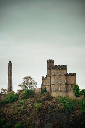 historical monument: Calton Hill in Edinburgh, United Kingdom.