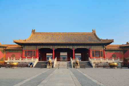 ancient architecture: Pagoda architecture in Forbidden City in Beijing, China.