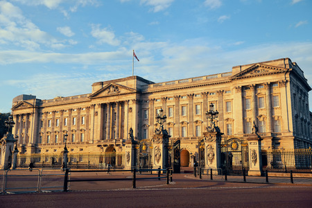 exterior shape: Buckingham Palace in the morning in London. Editorial