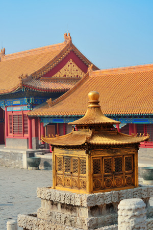 Forbidden City: Pagoda architecture in Forbidden City in Beijing, China.
