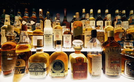 liquors: Scottish Whisky collection in Edinburgh.