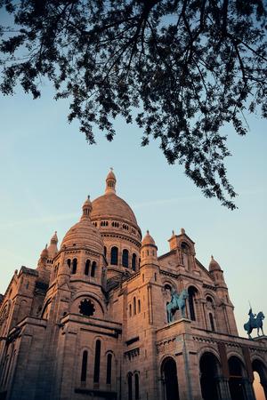 sacre: Sacre Coeur Cathedral closeup in Paris, France.