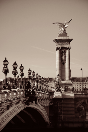iii: Alexandre III bridge in Paris, France. Stock Photo