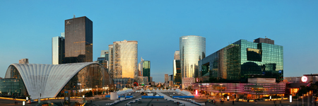 la defense: PARIS, FRANCE - MAY 13: Contemporary architecture in la Defense business district on May 13, 2015 in Paris. With the population of 2M, Paris is the capital and most-populous city of France.