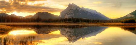 banff national park: Vermillion Lake sunrise in Banff National Park in Canada
