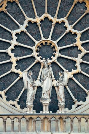 dame: Notre Dame de Paris closeup view as the famous city landmark.