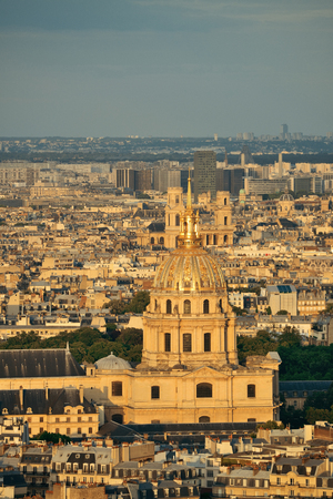 history building: Napoleons Tomb viewed from rooftop, Paris, France.