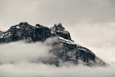 fog white: Foggy mountain and cloud in Banff National Park, Canada Stock Photo