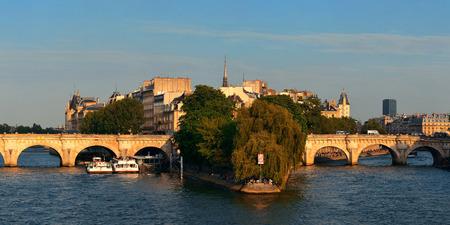 cite: River Seine and historical architecture in ile de la cite in Paris, France. Stock Photo