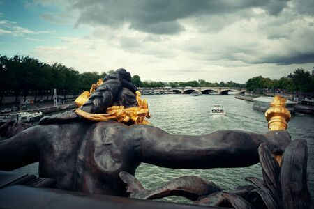 iii: Paris River Seine and Alexandre III Bridge