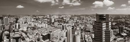 marina bay: Singapore Marina Bay rooftop view with urban skyscrapers.