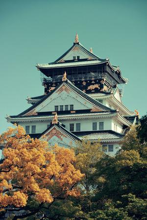 historical landmark: Osaka Castle as the famous historical landmark of the city. Japan.