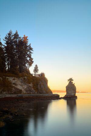 Siwash Rock in park in Vancouver