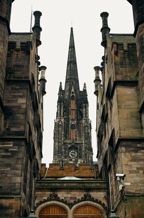 historical architecture: The University of Edinburgh historical architecture closeup.