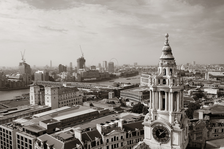 english famous: London rooftop view panorama with urban architectures.