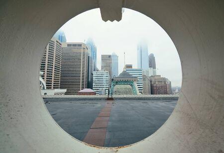 through window: Philadelphia city architectures through window