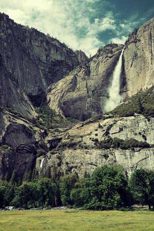 yosemite national park: Waterfalls in Yosemite National Park in California