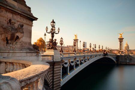 alexandre: Alexandre III bridge and River Seine in Paris, France.