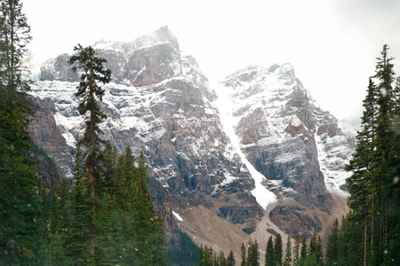 banff national park: Snow capped mountain of Banff National Park in Canada