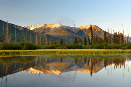 banff national park: Lake in Banff National Park in Canada Stock Photo