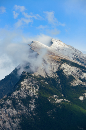 snow capped mountain: Landscape of Banff National Park in Canada with snow capped mountain