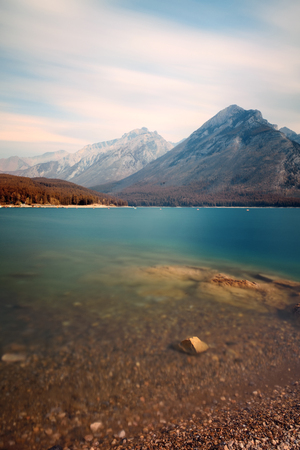 jacks: Lake Minnewanka with long exposure in Banff National Park