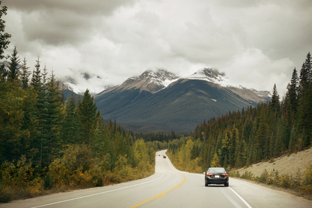 Highway in Banff National Park, Canada.