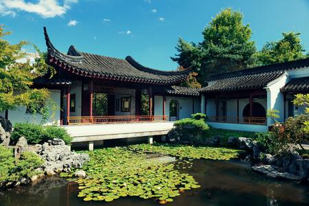 chinese courtyard: Sun Yat-Sen Garden in Vancouver, Canada