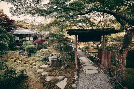 Ein Teehaus in Kyoto in Japan.
