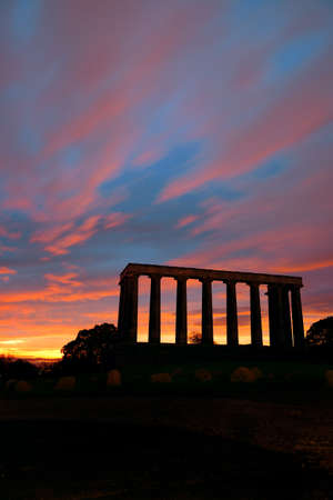 national monument: National Monument at Calton Hill in Edinburgh, UK.