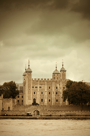 london tower: London tower at Thames River water front Stock Photo