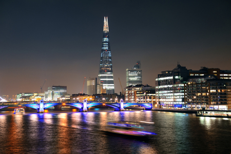 shard: LONDON, UK - SEP 27: The Shard at night on September 27, 2013 in London, UK. the Shard is currently the tallest building in the European Union