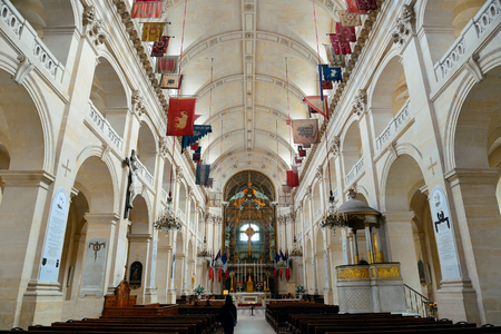 napoleon bonaparte: PARIS - MAY 13: Saint Louis des Invalides chapel interior on MAY 13, 2015 in Paris. It is the the burial site for Frances war heroes including Napoleon Bonaparte. Editorial