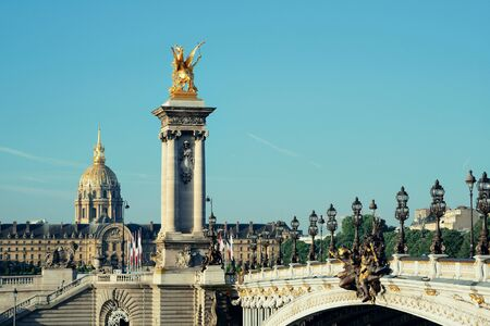 alexandre: Alexandre III bridge and Napoleans tomb in Paris, France.
