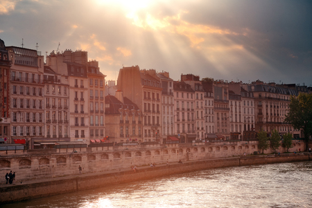 historical architecture: Paris city view with historical architecture. Stock Photo