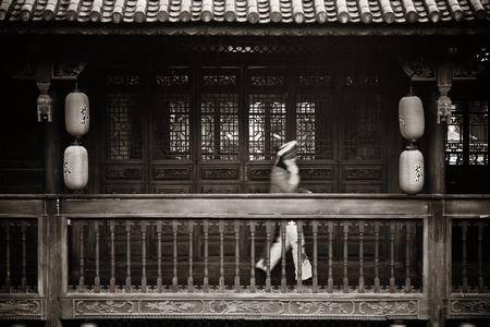 Lokale Bai stijl architectuur in Dali oude stad. Yunnan, China.
