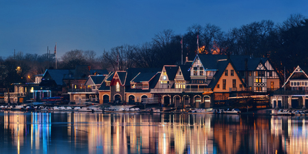 historical landmark: Boathouse Row in Philadelphia as the famous historical landmark.