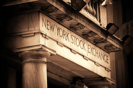 capitalization: NEW YORK CITY - SEP 5: New York Stock Exchange closeup on September 5, 2014 in Manhattan, New York City. It is the worlds largest stock exchange by market capitalization of its listed companies. Editorial
