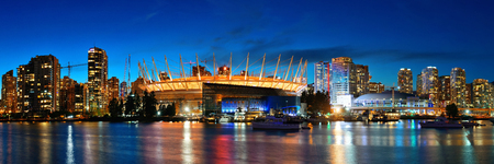 ethnically diverse: VANCOUVER, BC - AUG 17: BC Place Stadium at waterfront of False Creek on August 17, 2015 in Vancouver, Canada. With 603k population, it is one of the most ethnically diverse cities in Canada.