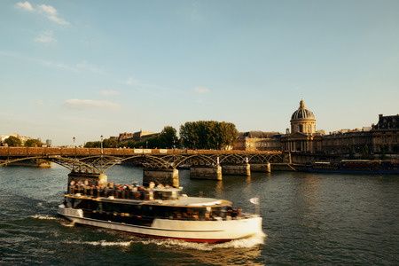 historical architecture: River Seine and historical architecture in Paris, France.